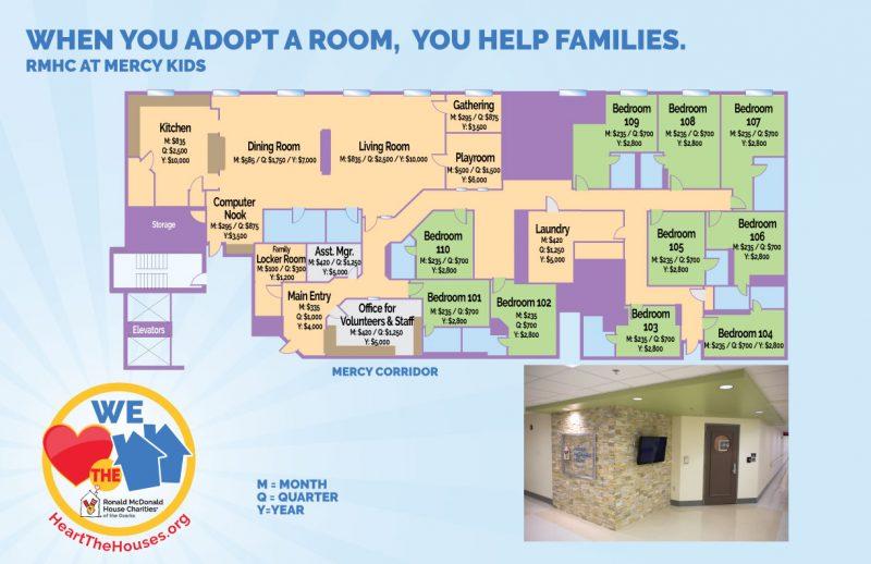 RMHC at Mercy Kids floorplan