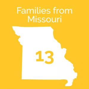 Familes from Missouri: 13